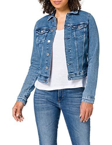 Tommy Jeans Damen Vivianne Slim Denim Trucker NMBS Jeansjacke, Nancy Mb STR, 42