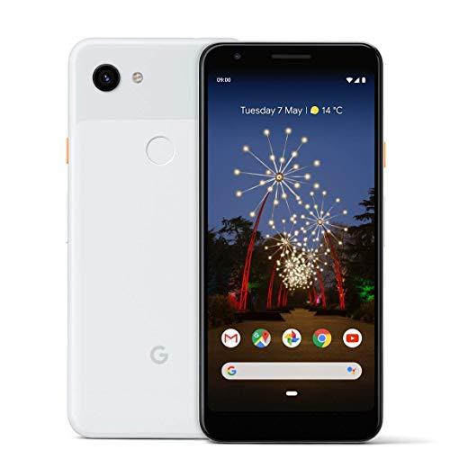 Google Pixel 3A Smartphone Android 9.0, Mono SIM, 64 GB memoria (non espandabili), Bianco (Clearly White)