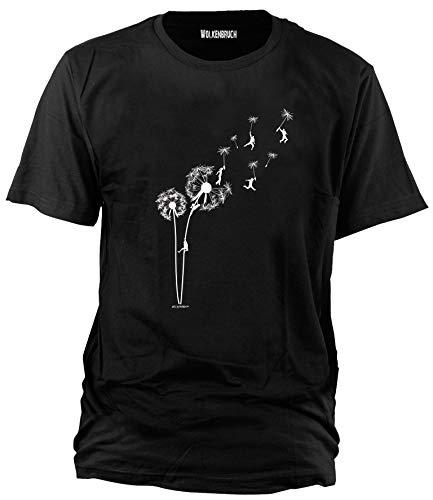 Wolkenbruch® T-Shirt Puste mal Blume, schwarz, Gr.XL