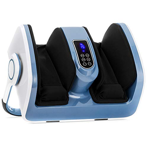 Best Choice Products Air Compression Reflexology Shiatsu Calf Foot Massager with Heat, for Therapeutic Deep Kneading, Blood Flow Circulation, Plantar Fasciitis, High-Intensity Rollers, Nerve Pain