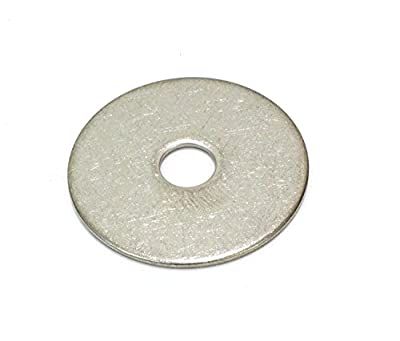 Stainless Fender Washer, (100 Pack) - Choose Size, By Bolt Dropper, 18-8 (304) Stainless Steel
