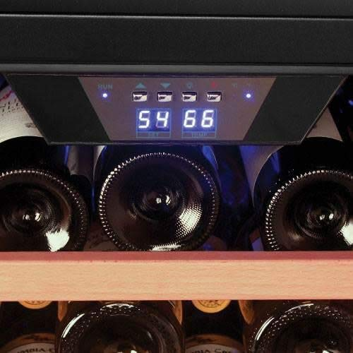 EdgeStar 53 Bottle Built-In Wine Cooler - Stainless Steel/Black