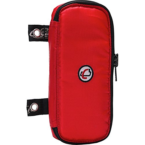Case-it The Pouch Zippered Pencil Case with Grommets, Red, PLP-02-RED
