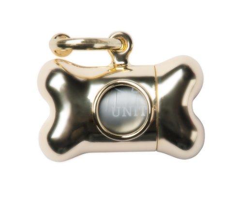 United Pets Bon Ton Nano Chrome Distributeur de Sachet Hygiénique pour Chien Or