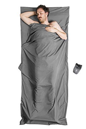Bahidora Hüttenschlafsack aus Mikrofaser, Schlafsack Inlett, Schlafsack Inlay, Reiseschlafsack. Ideal für Hostels, Berghütten und Jugendherbergen (grau)