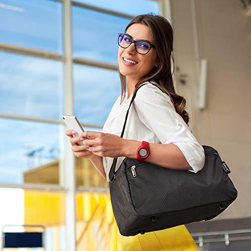 Aerolite Holdall Maximum Ryanair Hand Luggage Cabin Sized Flight Shoulder Bag Equipaje de Mano, 35 cm, 14 Liters, Negro (Black)