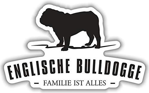 Aufkleber Englische Bulldogge wetterfester