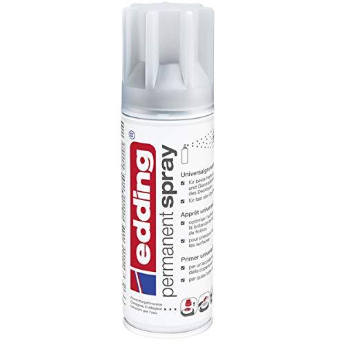 edding 5200 Permanent Spray Universalgrundierung – grau – Basis für ein gleichmäßiges Ergebnis der Lackierung fast aller Oberflächen (z.B. Glas, Metall, Holz, Keramik, Leinwand) – Inhalt: 200 ml