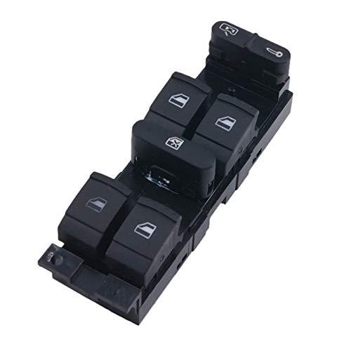 ZIS Interruptor de Ventana de elevación de Potencia eléctrica de Control Maestro para Bora B5 Seat Leon Toledo 2000-2009 (Color : Black)