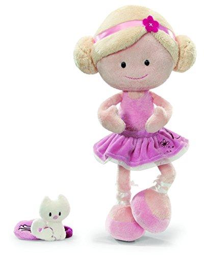 NICI 36848 - Wonderland Puppe Miniclara, Schlenker mit Handtasche, Plüsch, 30 cm