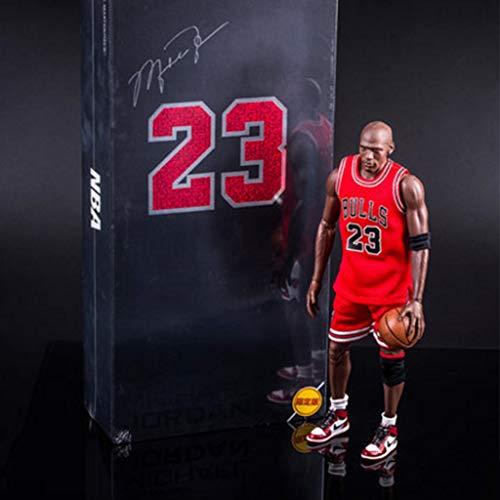 ZRY NBA Michael Jordan Action-Figur Bulls 23 Jersey Modell populäre Karikatur-Geschenk-Spielzeug Dekorationen Basketball Sport Puppe Ornamente