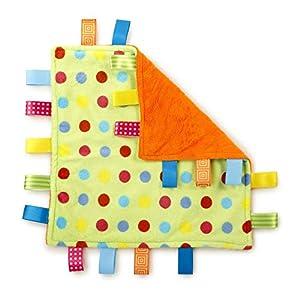G-Tree Tag Blanket Baby Infant Comfort Plush Security Blanket Cute Soft Kids, Newborn Gift Birthday Present(Green Dot)
