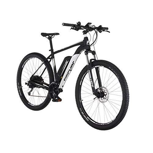 FISCHER E-Mountainbike EM 1724.1, E-Bike MTB, signalschwarz matt, 29 Zoll, RH 51 cm, Hinterradmotor 45 Nm, 48 V Akku