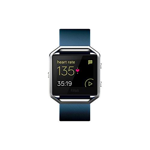 Fitbit Blaze Smart Fitness Watch, Orologio con Touchscreen e GPS, Wireless, Blu, Taglia L