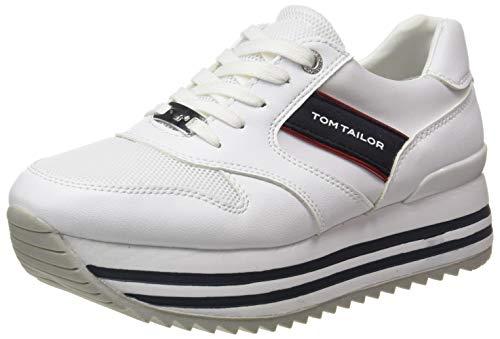 TOM TAILOR Damen 1191406 Sneaker, White, 40 EU