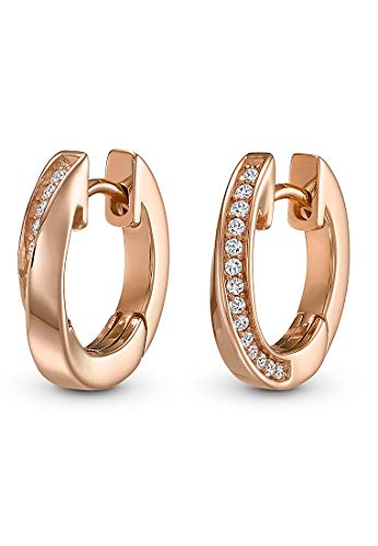 JETTE Silver Damen-Creolen 925er Silber One Size Rosé 32010186