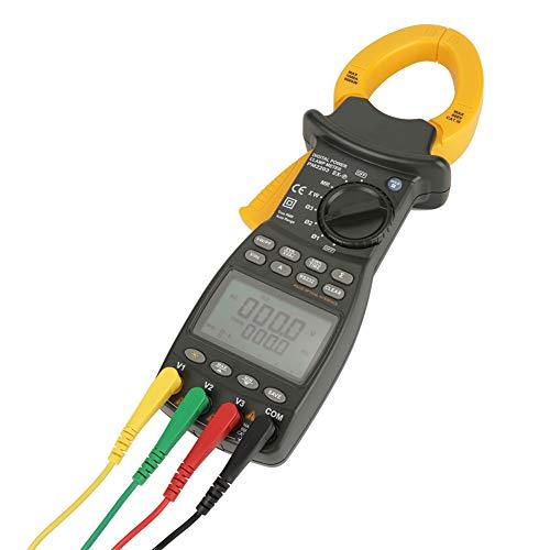 Pinza amperimétrica profesional - MS2203 Multímetro digital trifásico Medidor de pinza de factor de potencia Medidor de pinza digital