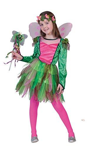 Karneval-Klamotten Waldfee Kostüm Kinder Fee Kostüm Elfe-n Kostüm Mädchen Kinderkostüm
