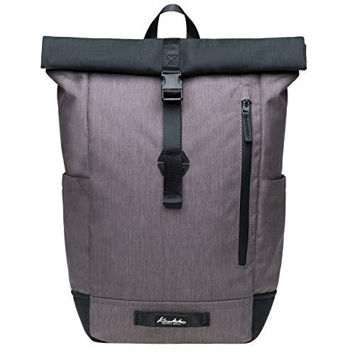 Mochilas Hombre, Mochila de Portátil,Backpack para el Laptop 15 Pulgadas KAUKKO Daypacks, Casual Escolar Mochila Mujer para Viaje (Negro Gris(KF04-2))