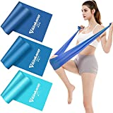 Haquno Resistance Bands Set, [Set of 3] Skin-Friendly Exercise Bands with 3 Resistance...