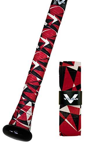 Vulcan 1.00mm Bat Grips, Red Flash