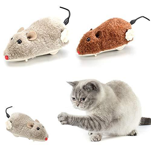 Unbekannt WFZ17 Pet Supplies Hundespielzeug aus Plüsch, lustiges Spielzeug, Maus mit Uhrwerk, zum Aufziehen und Laufen