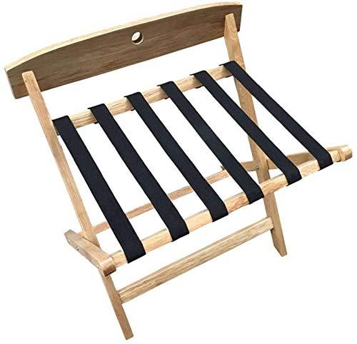 Portaequipajes, Portaequipajes plegables Soporte para maletas de hotel para dormitorio, Estante para almacenamiento de equipaje de madera maciza, Estante para habitación Percha para el hogar para dorm