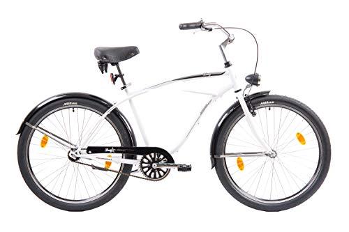 F.lli Schiano Lazy Bicicleta de Ciudad, Hombre, Blanco, 26''