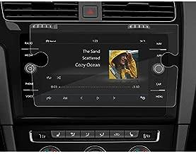 BUENNUS Navigation Screen Protector for Volkswagen Jetta Golf 2019 2018,Infotainment Display in-Dash Center Touch Protective Film for VW Golf R GTI Alltrack SportWagen Tempered Glass 8 Inch