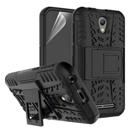 betterfon | Outdoor Handy Tasche Hybrid Hülle Schutz Hülle Panzer TPU Silikon Hard Cover Bumper für ZTE Blade L110 Schwarz