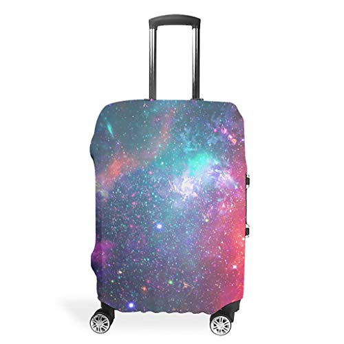 Travel Luggage Case Cover - Fog Prints Suitcase Cover Multiple Sizes Fit Most Trolleys, White (White) - BTJC88-scc