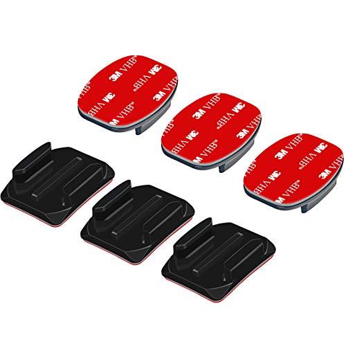 Sametop Klebehalterung Flache Gebogene Klebepad Helm Halterung Helmbefestigung aus 3M Kleber Kompatibel mit GoPro Hero 8, 7, 6, 5, 4, Session, 3+, 3, 2, 1, Hero (2018), Fusion, Max Kameras