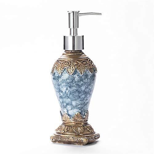 Dispensador de líquidos 300ml patrón ágata color líquido botella de líquido retro subbotella ducha creativa pulsación botella baño baño herramientas dispensador de jabón Botellas Divididas de Prensa D