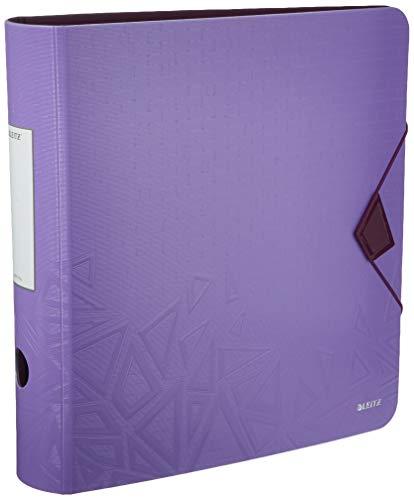 LEITZ 11160099 - Archivador de palanca polyfoam 180º lomo curvado cierre con goma Active Urban Chic DIN A4 75 mm. colores surtidos (pack 5 ud.)