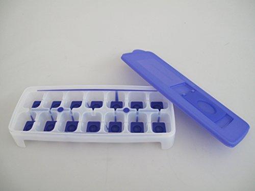 Tupperware Gefrier-Behälter Eiswürfler lila-weiß Eiswürfelwunder G29 31087