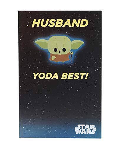 Geburtstagskarte für Ehemann – lustige Karte für Ihn Geburtstag – Geschenkkarte für Ihn – Star Wars Geburtstagskarte – Yoda Geburtstagskarte – Star Wars Geburtstagsgeschenk