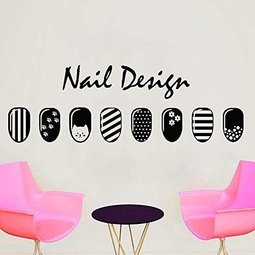 ganlanshu Nageldesign Wandtattoo Vinyl Polish Nagellack Fashion Nail Shop Modern Home Interior...