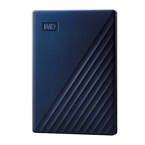 WD My Passport for Mac externe Festplatte 2 TB (mobiler Speicher, USB-C-fähig, WD Discovery Software, Passwortschutz, Mac kompatibel, einfach einzusetzen) mitternachtsblau (Generalüberholt)