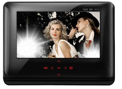 Odys Slim TV 700 Slide Tragbarer DVD-Player (17,8 cm (7 Zoll) TFT LC-Display, DVB-T Tuner, DivX-Zertifiziert, USB 2.0) schwarz