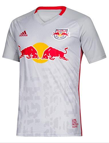adidas New York Red Bulls Replica Primary Jersey-Gray/White-XS