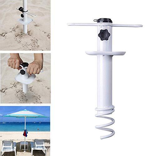 N/Y Ancla de sombrilla de Playa Universal, Resistente a Prueba de Viento Portátil Base de sombrilla de Arena de Playa Soporte de Suelo para jardín Patio al Aire Libre
