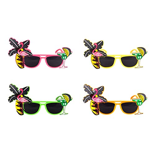 HENBRANDT Tropical Party Novelty Sunglasses - Single - Assorted Colours