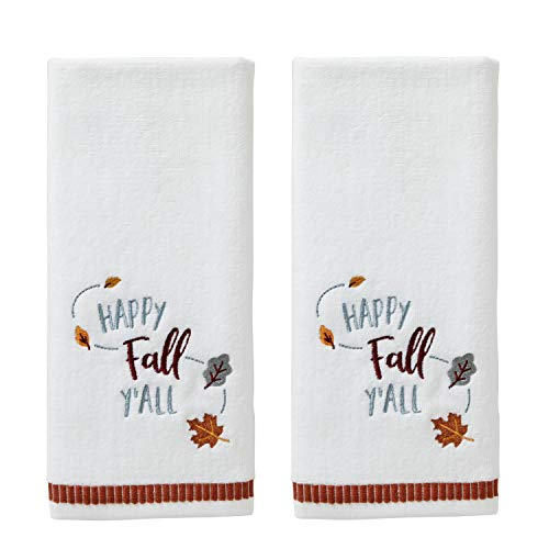 SKL HOME by Saturday Knight Ltd. Happy Fall Yall Hand Towel, White