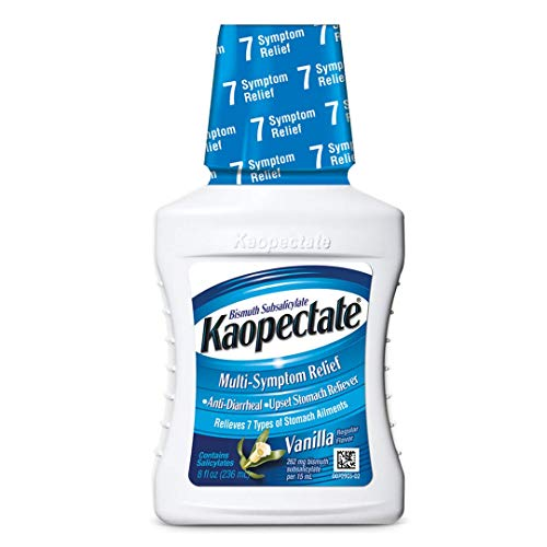 Kaopectate Multi-Symptom Relief for Diarrhea & Upset Stomach, Vanilla, 8 Ounce Bottle