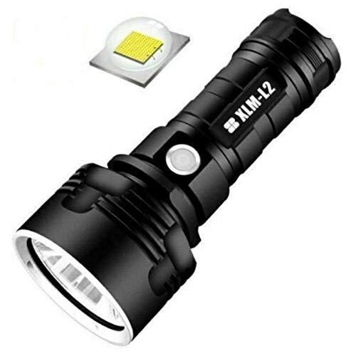 Linterna LED de carga USB, 200000 lúmenes, USB LED, linterna táctica militar, superbrillante, potente lumen ajustable, linterna de enfoque ajustable Con batería 26650