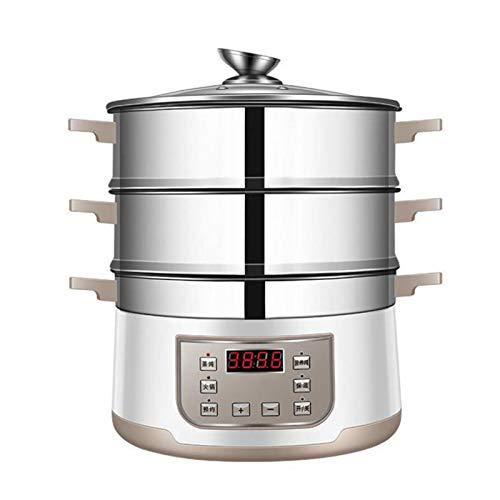 X-LSWAB Slow Cooker Smart-Carb Dampfgarer Multigrain Slow Cooker mit Warmhaltefunktion und Timer Geeignet for 4 Schicht mit einem Dampfkoch Stew Hot Pot Mehrschichtige praktischere (Color : F)