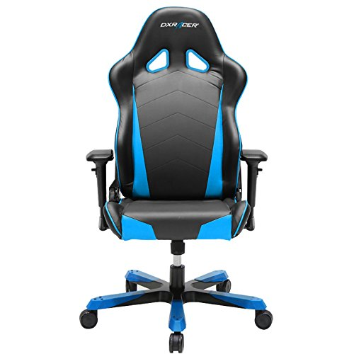 DXRacer OH/TS29/NB Tank Series Black and Blue Gaming Chair - Includes 2 Free Cushions