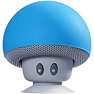 Hipipooo Mini Mushroom Portable Wireless Bluetooth V2.1 Speaker and Cell Phone Support Holder with Suction Cup Compatible with iPad,iPhone,Android Phones,Laptop(Blue):Shizuku7148