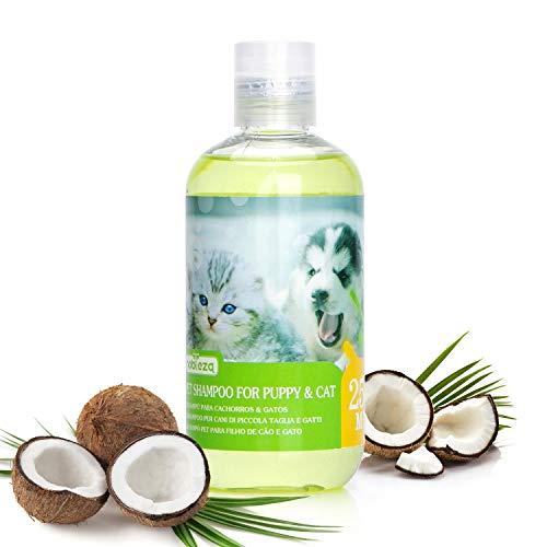 Nobleza Shampoo für Hunde Katzen mild 250ml, Welpenshampoo sensitiv und bio mit Kokosduft, Welpen Shampoo natürlich für empfindliche Hunde und kleine hunde, Hautfreundlich, Pflegend und leicht kämmbar