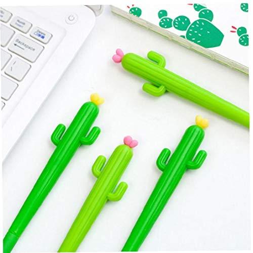 BYFRI Gel Neutral Pen Werbe-Kugelschreiber Grünpflanzen Form Für Schule Büro Schreib Geschenke Briefpapier 10pcs